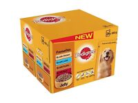 BNIB Pedigree Favourites in Jelly Adult Dog Food Pouches 48 pk (in 2 x 24 pks)