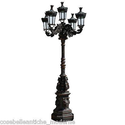 Lampione Garden 5 Lanterns cast iron Lighting Outdoors Lamp Lamp 118 1/8in