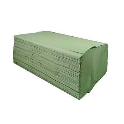 5000 Stück Papierhandtücher Papiertücher Grün, 1-lagig V-Falz (np)