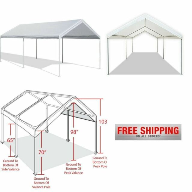 canopy tent heavy duty outdoor carport portable garage 10x20 caravan car shelter - Carport Canopy