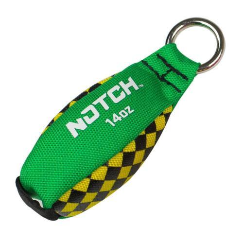 NOTCH 14 oz THROW WEIGHT Green/Yellow  NTW-14