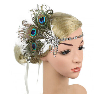 Peacock Feather Fascinator Hair Clip Wedding Party Vintage Headpiece (Peacock Fascinator)