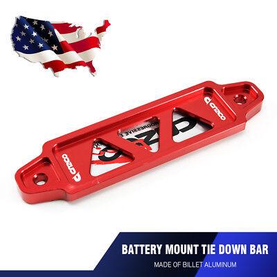 Universal 14cm Billet Aluminum Battery Tie Down Bar Bracket Stand Auto Car - Chevrolet Battery Car