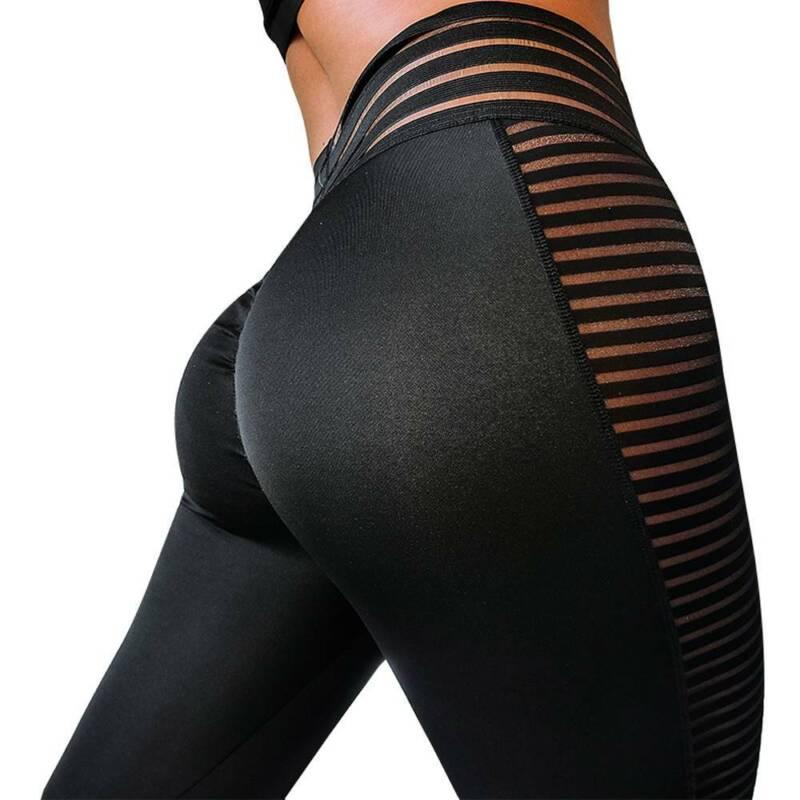 women yoga workout mesh leggings high waisted