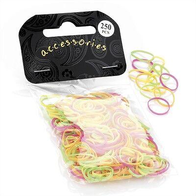 250pc HAIR BRAID PLAIT ELASTICS MINI SMALL 1cm RUBBER BANDS BRAIDING DREADS TINY