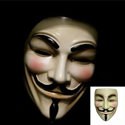 Masque Costumes (V for Vendetta Mask Guy Fawkes Anonymous Halloween Masks Fancy Dress Costume)