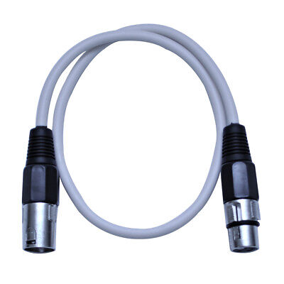 Seismic Audio 2 Foot White XLR to XLR Patch Cable - 2