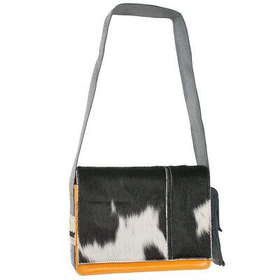 PROVOKED orange COW schwarz Kuhfelltasche Umhängetasche (Orange Taschen)