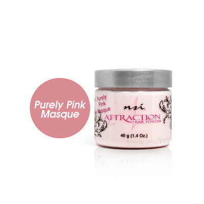 Nsi Attraction Nail Acrylic Powder - Purely Pink Masque 1.4oz / 40g