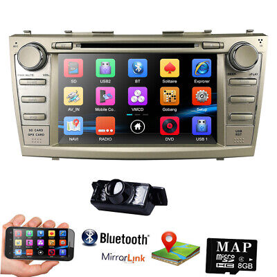 """HIZPO For Toyota Camry 2007-2011 8"""" 2DIN In-Dash Car Stereo DVD Player GPS BT E"""
