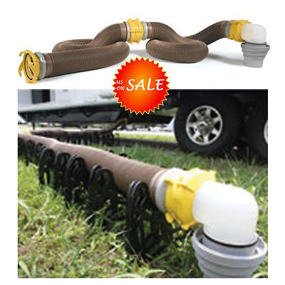 Camco RV Sewer Hose Swivel Tank Toilet Fittings Trailer Camper Waste Dump Drain