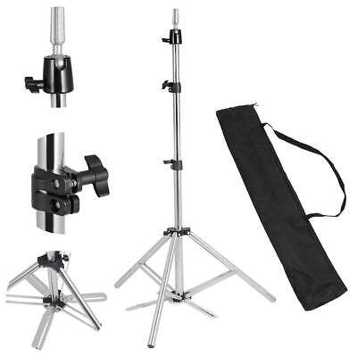 Cosmetology Brushed Aluminum Mannequin Head Tripod Stand N7181