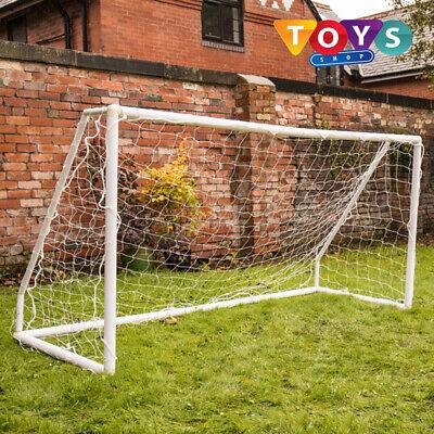 New Kids Football Goal Posts Outdoor Portable 8X4ft Striker Foot Ball Plastic UK