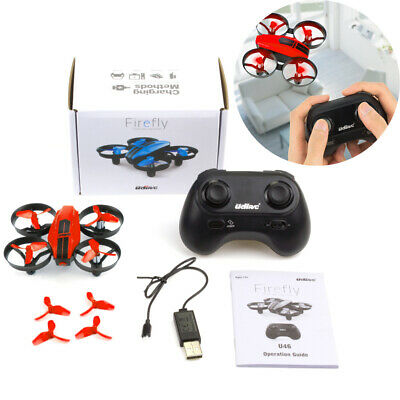 UDI U46 Mini RC Drone 2.4Ghz 4CH Quadcopter Headless Mode for Beginners Kids Red