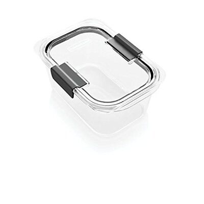 Rubbermaid Brilliance Food Storage Container Medium Deep 100 Leakproof Clear