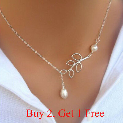 Fashion Charm Jewelry Pearl Choker Chunky Statement Bib Pendant Chain Necklace