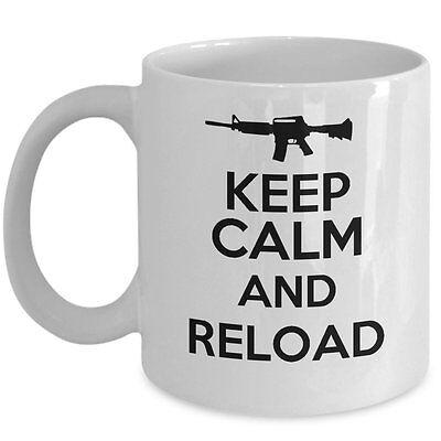 Awesome Gun Lover Mug - Keep Calm And Reload Coffee & Teacup -2nd Amendment Gift