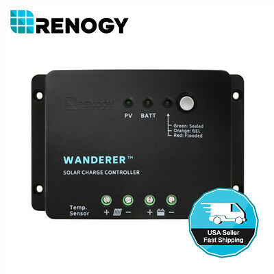 Renogy 30A PWM Solar Charge Controller Negative Ground 12V Battery Regulator PV