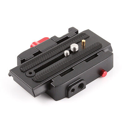 P200 Quick Release QR Clamp Base Plate for Manfrotto 500 AH 701 503 HDV 577