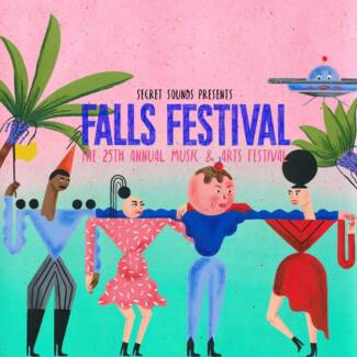 3 DAY FALLS FESTIVAL BYRON BAY TICKET + CAMPING