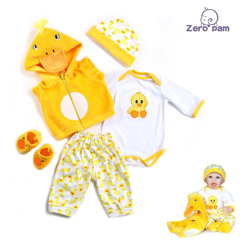 Reborn Dolls 20-22 inch Clothes Newborn Matching Reborn Outfits Clothes Set DIY