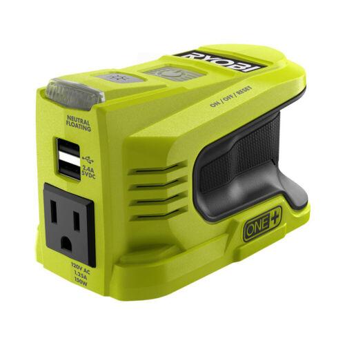New RYOBI 18V ONE+ 150-watt Power Source Battery Powered Inverter RYi150BG