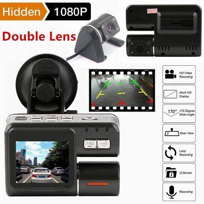 1080p HD KFZ Auto DVR Kamera Dual Lens Dashcam Camcorder IR Nachtsicht 1,77 Zoll ()