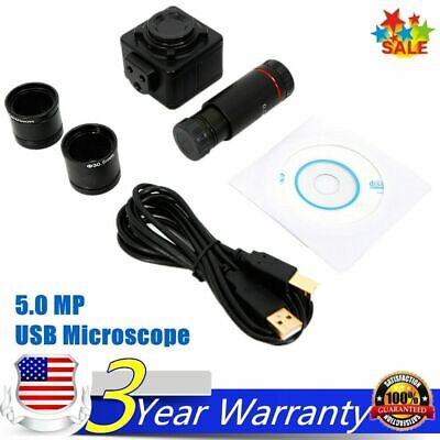 Microscope Digital Electronic Eyepiece Camera With C Mount Adapter 5.0 Mp Hd Usb