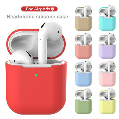 Bluetooth Wireless Headphone Charging Case Soft Silicone Skin For Apple Airpods2