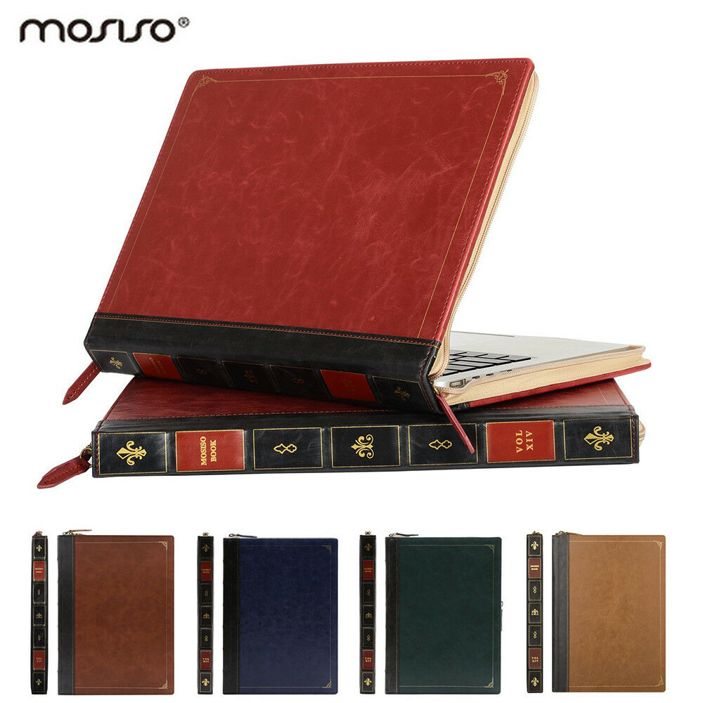 Mosiso Vintage Premium Zippered Case for Macbook Air Pro 13
