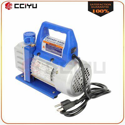 3 CFM 1/4 HP Rotary Vane Deep Vacuum Pump 110V HVAC AC Refrigerant Charge Blue