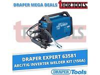 DRAPER 63581 EXPERT ARC/TIG INVERTER WELDER KIT (150A)