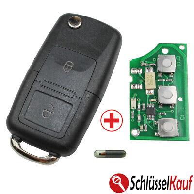 Las Llaves Del Coche Plegable 433MHZ + Bruta + Transpondedor Nuevo Apto para VW