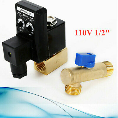 110v 12 Automatic Electronic Timed Air Compressor Condensate Auto Drain Valve