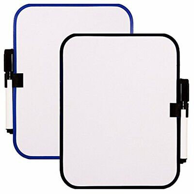 White Board Set With Magnet Strips -- 6-12 X 8-14 2 Pack