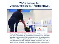Volunteers wanted for Pickleball sessions