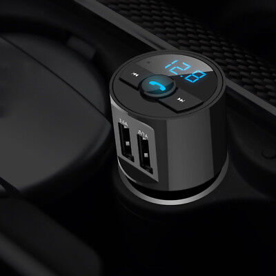 Bluetooth Car USB Charger FM Transmitter Radio Adapter MP3 Player Quick Charge for sale  Shipping to Canada