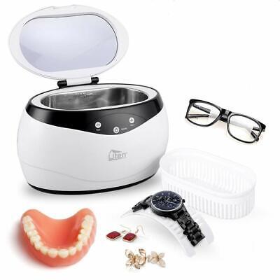 Limpiador ultrasonidos ultrasonico 650ml,joyas,relojes,gafas,soportes,acero inox