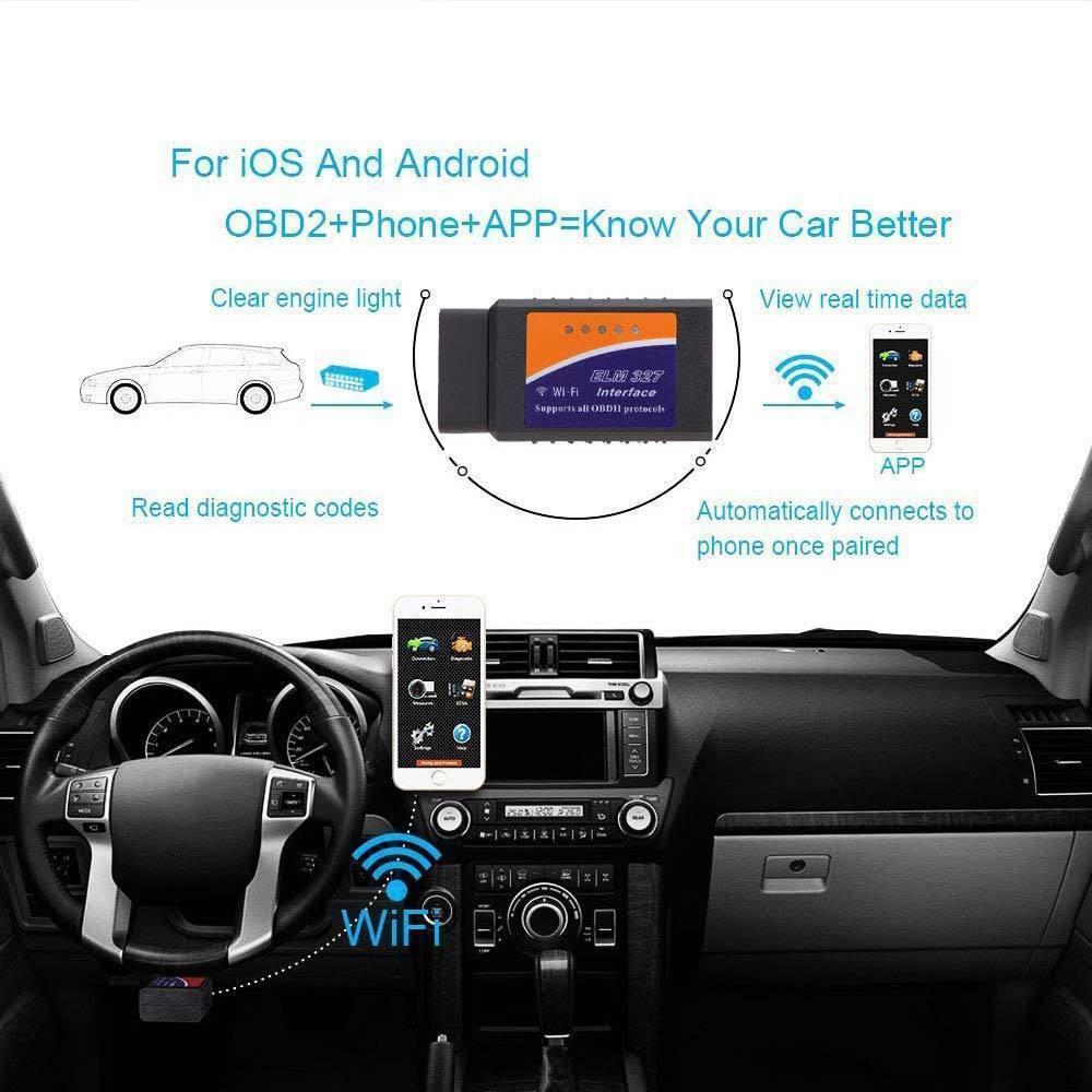 Scanner Engine Light Clear Wireless OBD2 Code Reader for VW Crafter 30-35