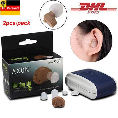 2PCS Digital Hörgerät Hörhilfe Hörverstärker Hörgeräte Gerät Taub Verstärker Digitales Hörgerät