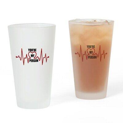 CafePress Grey's Anatomy My Person Drinking Glass (Personalized Drinking Glass)