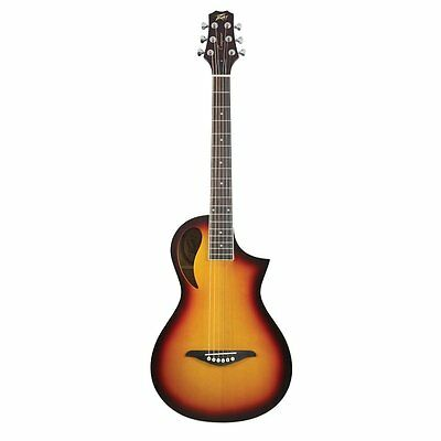 Peavey Composer Parlor Spruce Top Acoustic Guitar in Sunburst with Gig Bag