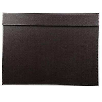 23 X 17 Desk Pad Protector Mat Desk Blotters Pad With File Clip Board Brown