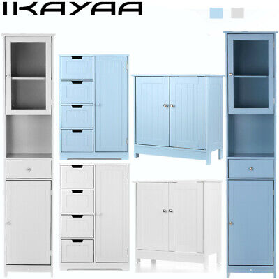 iKayaa Modern Tower Tall Storage Cabinet with Doors & Drawer Floor Home US J3D1 Tall Storage Drawer