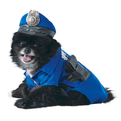 Dog Pet Police Fancy Dress Costume Copper Policeman Outfit - Police Dog Outfit