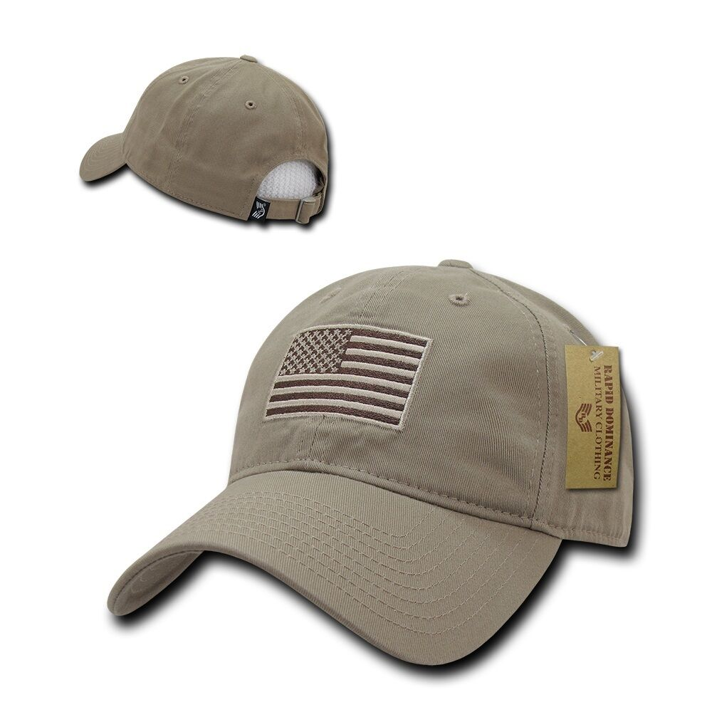 Khaki USA US American Flag Patch United States America Polo Baseball ... 9dba16f225