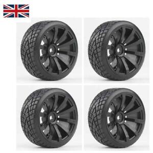 RC Car Drift Tires Tyre and Wheels 10-Spoke Blk for HSP HPI 1/10 Scale Drift Car