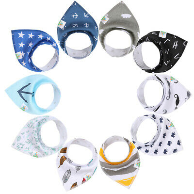 Baby Boy Bandana Drool Bibs-10 Pack100% Organic Cotton for drooling/teething Organic Baby Bib