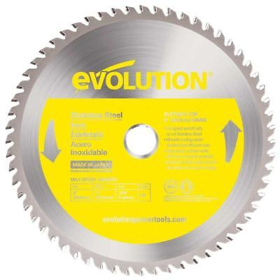 Evolution 230bladessn 9 X 60t X 1 For Cutting Stainless Steel Max Rpm 2700