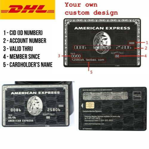 American Express Centurion Black Card Customise your own Amex Metal w/ chip